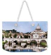 Vatican City Seen From Tiber River Weekender Tote Bag
