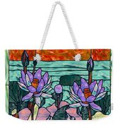 Vector Illustration Of Flower Sunflower In Stained Glass Window  Weekender Tote Bag