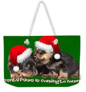 Vector Santa Paws Is Coming To Town Christmas Greeting Weekender Tote Bag