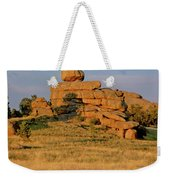 Vedauwoo Rocks Sunset Wyoming Weekender Tote Bag