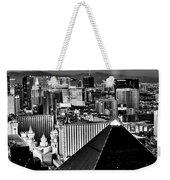 Vegas Black And White Weekender Tote Bag
