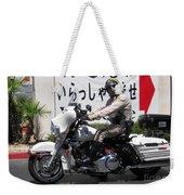 Vegas Motorcycle Cop Weekender Tote Bag