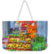 Vegetable And Fruit Stand Weekender Tote Bag