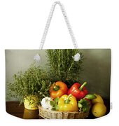 Vegetables And Aromatic Herbs In The Kitchen Weekender Tote Bag
