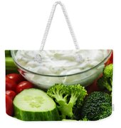 Vegetables And Dip Weekender Tote Bag by Elena Elisseeva