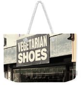 Vegetarian Shoes Weekender Tote Bag