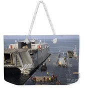 Vehicles Are Transferred Aboard Weekender Tote Bag