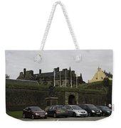 Vehicles At The Parking Lot Of Stirling Castle Weekender Tote Bag