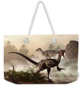 Velociraptors Prowling The Shoreline Weekender Tote Bag