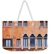 Venetian Building Wall With Windows Architectural Texture Weekender Tote Bag