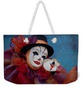 Venetian Carnival - Portrait Of Clown With Mask Weekender Tote Bag