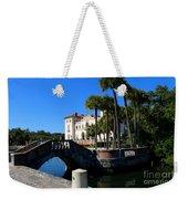 Venetian Style Bridge And Villa In Miami Weekender Tote Bag