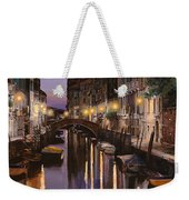 Venezia Al Crepuscolo Weekender Tote Bag by Guido Borelli