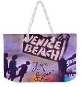 Venice Beach To Santa Monica Pier Weekender Tote Bag