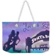 Venice Beach To Santa Monica  Purple Weekender Tote Bag