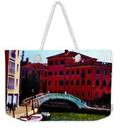 Venice Bow Bridge Weekender Tote Bag