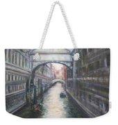 Venice Bridge Of Sighs - Original Oil Painting Weekender Tote Bag