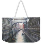 Venice Bridge Of Sighs - Original Oil Painting Weekender Tote Bag