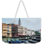 Venice Gondolas On Canal Grande Weekender Tote Bag