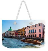 Venice Grand Canal View Italy Sunny Day Weekender Tote Bag