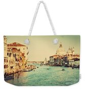 Venice Italy  Grand Canal In Vintage Style Weekender Tote Bag