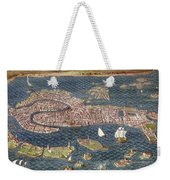 Venice: Map, 16th Century Weekender Tote Bag