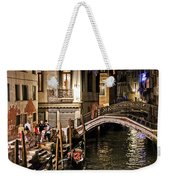 Venice Night By The Canal Weekender Tote Bag