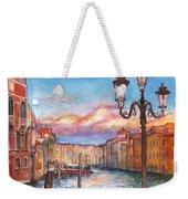 Venice Sunset Weekender Tote Bag