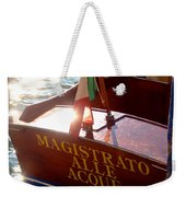 Venice Water Authority Boat Weekender Tote Bag