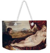Venus With The Organ Player Weekender Tote Bag