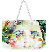 Vera Brittain - Watercolor Portrait Weekender Tote Bag