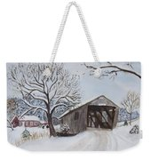 Vermont Covered Bridge In Winter Weekender Tote Bag