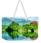 Vermont Farm Along The Connecticut River Weekender Tote Bag