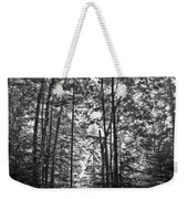 Vermont Forest Sunrise Ricker Pond Black And White Weekender Tote Bag