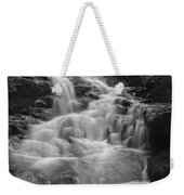 Vermont Forest Waterfall Black And White Weekender Tote Bag