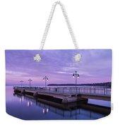Vermont Lake Champlain Sunrise Clouds Fishing Pier Weekender Tote Bag