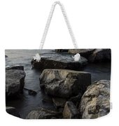 Vermont Lake Champlain Sunset Cloudscape Rocks Weekender Tote Bag