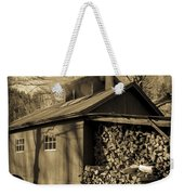 Vermont Maple Sugar Shack Circa 1954 Weekender Tote Bag by Edward Fielding