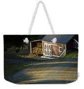 Vermont Maple Sugar Shack Sunset Weekender Tote Bag by Edward Fielding