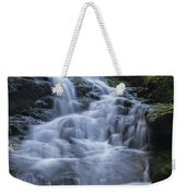 Vermont New England Waterfall Green Trees Forest Weekender Tote Bag