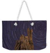 Vermont Night Star Trail Wood Pier Weekender Tote Bag