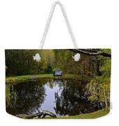 Vermont Pond In Autumn Weekender Tote Bag
