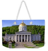 Vermont State Capitol In Montpelier  Weekender Tote Bag