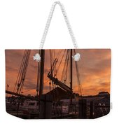 Vermont Sunrise Boats Pier Lake Champlain Weekender Tote Bag