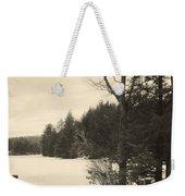 Vermont Winterland Weekender Tote Bag