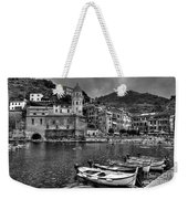 Vernazza - Cinque Terre In Grey Weekender Tote Bag