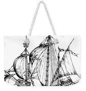 Verrazzano's Ship Weekender Tote Bag