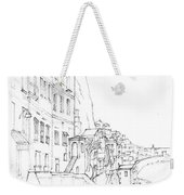 Vertical Amalfi Pencil And Ink Sketch Weekender Tote Bag