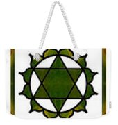 Vertical Columns Of Energy Abstract Chakra Art By Omaste Witkows Weekender Tote Bag