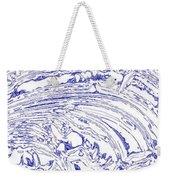 Vertical Panoramic Grunge Etching Royal Blue Color Weekender Tote Bag
